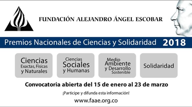 ¡Ciencia y solidaridad! Convocatoria de Premios Alejandro Ángel Escobar 2018